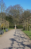 Detail of Formal gardens, winter time. Royalty Free Stock Photography