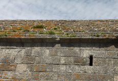 Detail of Fort du Cabellou, Southern Brittany Royalty Free Stock Image
