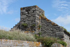 Detail of Fort du Cabellou, Southern Brittany Royalty Free Stock Photography