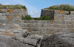 Detail of Fort du Cabellou, Southern Brittany Stock Images