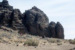 Detail, Fort Rock State Park, Central Oregon Stock Photos