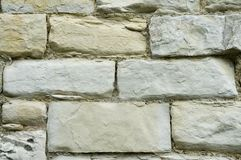 City wall constructed with limestone blocks Royalty Free Stock Photos