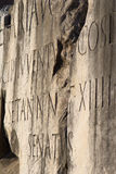 Detail from forum romanum in rome. Inscription Royalty Free Stock Photography