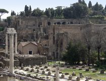 Detail of the Forum Romanum Royalty Free Stock Photography