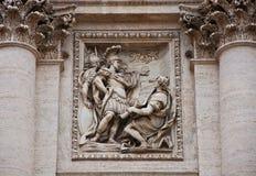 Detail of Fountain di Trevi Stock Photo