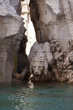 Detail of fountain of four rivers. At Piazza Navona,Rome Stock Images