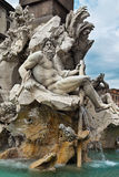 Detail of the Fountain of the Four Rivers, Rome Stock Photo