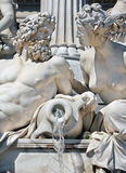Detail of fountain in front of Austrian parliament Stock Photo
