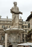 Detail of the Fountain of Madonna Verona in Piazza delle Erbe. Verona, Royalty Free Stock Images