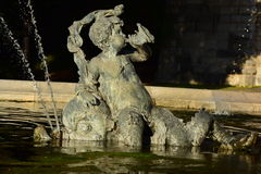 Detail of the fountain near PEACE ANGEL in Munich, Germany Royalty Free Stock Image