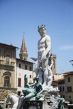 Fountain of Neptune in Florence. Detail of the Fountain of Neptune in Florence, Italy Stock Photos