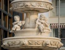 Detail of the fountain of Posiedon, Kusadasi, Turkey Stock Photography