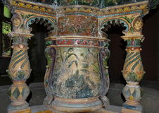 Old fountain detail from the 19th century - Baile Herculane - landmark attraction in Romania Stock Image