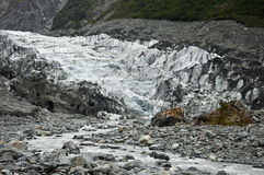 Detail of fox glacier Royalty Free Stock Images