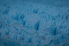 Detail of fractured surface of a melting glacier stock photography
