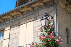 Detail Frans huis Stock Afbeelding
