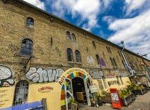 Freetown Christiania in Copenhagen, Denmark stock images
