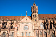 Detail of the Freiburg minster Stock Image