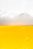 Detail of fresh beer with drops Royalty Free Stock Image