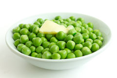 Detail of fresh garden peas. Stock Image