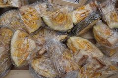 Detail of fresh jackfruit Stock Photo