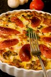Detail Fresh Quiche Lorraine Stock Photos