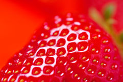 Detail of fresh strawberry Royalty Free Stock Photography