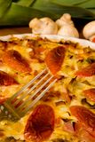 Detail Freshly Baked Quiche Royalty Free Stock Photos