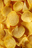 Detail of fried potato chips Royalty Free Stock Images