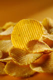 Detail of fried potato chips Stock Photography