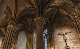 Detail From Cathedrale Notre Dame De Paris Royalty Free Stock Photo