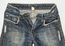 Detail  front blue jeans Royalty Free Stock Photography