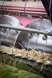 Detail of front part of combine harvester Stock Image