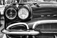 Detail of the front of the sports car Chevrolet Corvette (C1) Royalty Free Stock Images