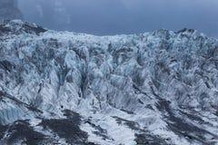 Detail of frosty ice in franz josef glacier new zelaand stock photo