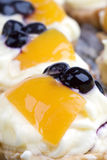 Detail of fruit cakes Royalty Free Stock Photo