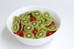 Detail of fruit salad. In basin Royalty Free Stock Photography