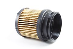 Detail of fuel filter for engine car Stock Image