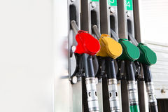 Detail fuel pump at a station Royalty Free Stock Photography
