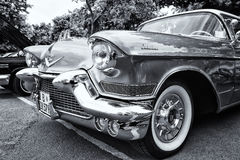 Detail of the full-size luxury car Cadillac Sixty-Two Coupe de Ville Royalty Free Stock Image