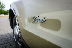 Detail of a full-size personal car Oldsmobile Toronado, 1968. Royalty Free Stock Photography