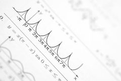 Detail of function graph Royalty Free Stock Image