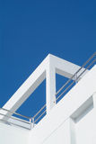 Detail of functionalistic style villa Royalty Free Stock Photo