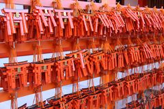Detail from the Fushimi-inari temple in Kyoto Royalty Free Stock Photography