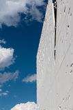 Detail of Futuristic Megastructure: White Building Facade Royalty Free Stock Image