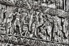 Detail of Galerius Arch. Thessaloniki, Greece stock photos