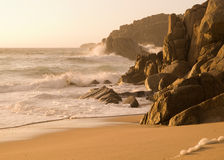 Detail of galician coast, Spain. Royalty Free Stock Photography