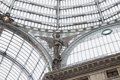Detail of Galleria Umberto I in Naples Stock Image