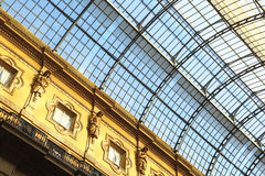 Detail of Galleria Vittorio Emanuele II in Milan Stock Photography