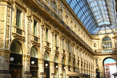 Detail of Galleria Vittorio Emanuele in Milan, Italy Royalty Free Stock Image